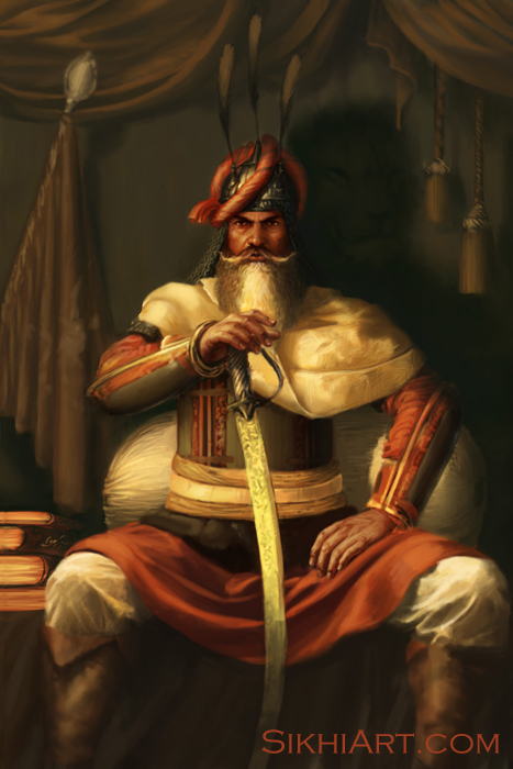 Hari Singh Nalwa, General of Maharaja Ranjit Singh's army, Sikh, Punjab, Art, Paintings, Khalsa, Warrior, Work in Progress