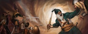 Baba Deep Singh Defends Harmandir Sahib