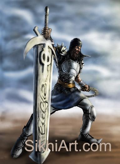Akali, Nihang, Warrior, Sikh warrior, Turban, Dastaar Boonga, Khalsa, Sikh Art, Punjab, Sikh Painting