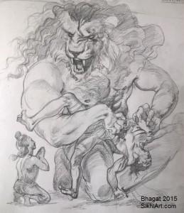 Narasimha, Narsingh, Hiranyakashipu, Prahalada, man-lion god