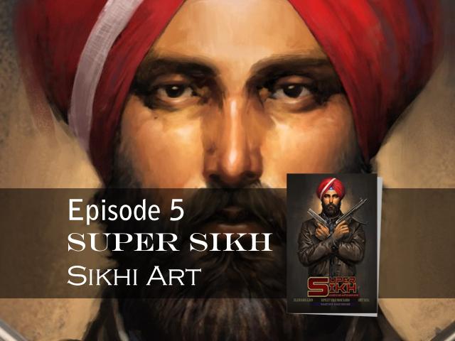 Super Sikh, Painting Tutorial, Bhagat isngh bedi artist