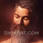 Guru Arjun Dev ji Meditating