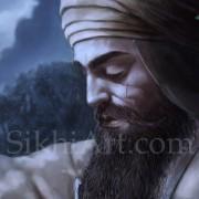 Guru Gobind Singh ji at Machhiwara