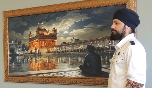 Bhagat Singh, Sikh Artist, Golden Temple Painting, Golden Temple in Moonlight, Harmandir Sahib Art, Harimandir, Hari Mandir, Meditation, Naam Simran, Moon, Baba Attal Rai, Gurudwara, Boonga, Bhagat Singh, Painting, Amritsar, Punjab Art, Sikhi Art, Golden Temple Canvas, Golden Temple Art, Golden Temple Framed Print, Golden Temple of Punjab