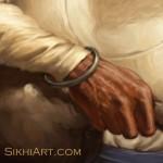 Bhai Kanhaiya, Hand, Bhai Ghanaiya, Guru Gobind Singh, Dashmesh Pita, Mughal, Sikh, Bhagat Singh, Sikhi Art, Sikh Art, Punjab, Battle of Anandpur Sahib