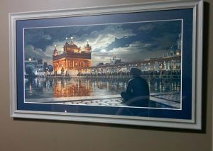 Golden Temple at night, Silver Frame, harimandir Sahib, Darbar Sahib, Bhagat Singh, Sikhi Art of Punjab, Amritsar,