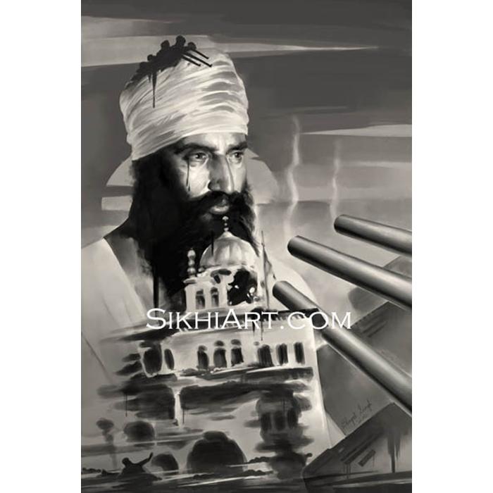 Sant Jarnail Singh Ji Bhindranwale Sikhi Art