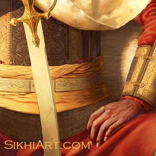 Hari Singh Nalwa, General of Maharaja Ranjit Singh, Sikh Art Punjab painting, Jamrud, Afghans, Peshawar, Ingres, Napoleon, Anglo Sikh Wars
