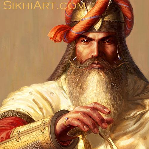 Hari Singh Nalwa, General of Maharaja Ranjit Singh, Sikh Art, Punjabi Art, Jamrud, Afghans, Peshawar, Ingres, Napoleon, Anglo Sikh Wars