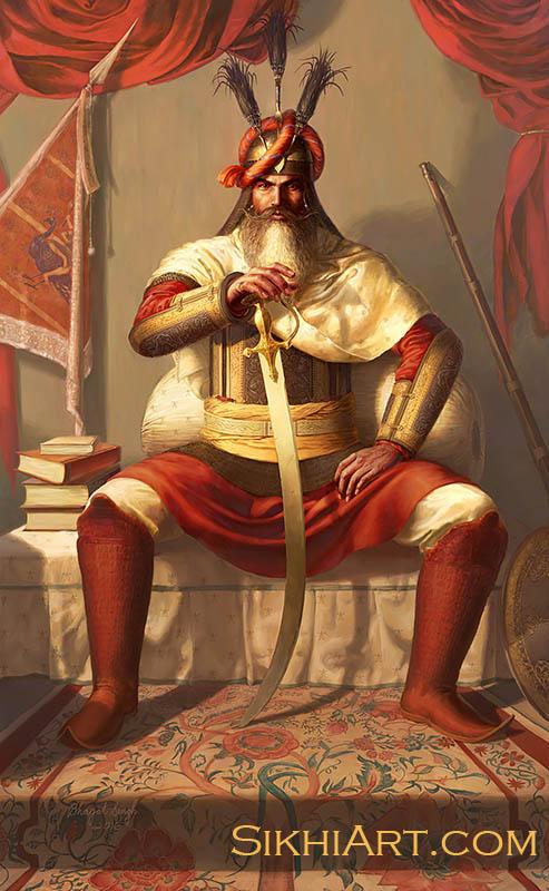 Hari Singh Nalwa, General of Sikh Army, History of Punjab, Jamrud, Afghanistan, Peshawar, Maharaja Ranjit Singh, Ingres, Napoleon, Anglo Sikh Wars, Painting Sikhi Art Punjab, Sikh Warrior of Punjab, Bhagat Singh Bedi, Sikh Art, Sikh Illustrations
