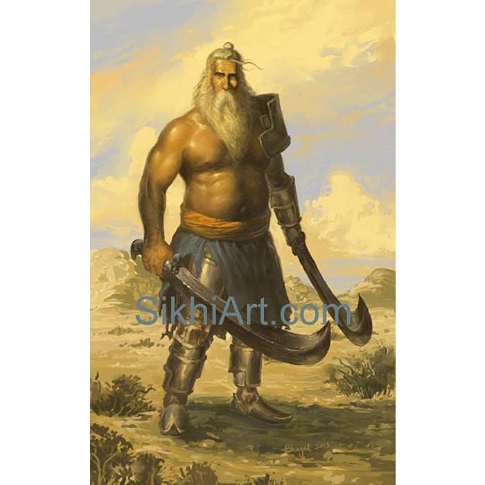 Patialvi Baba, Pataiala, Punjab, Punjabi Warrior, Nihang, Warrior, Sikh warrior, , Khalsa, Sikh Art