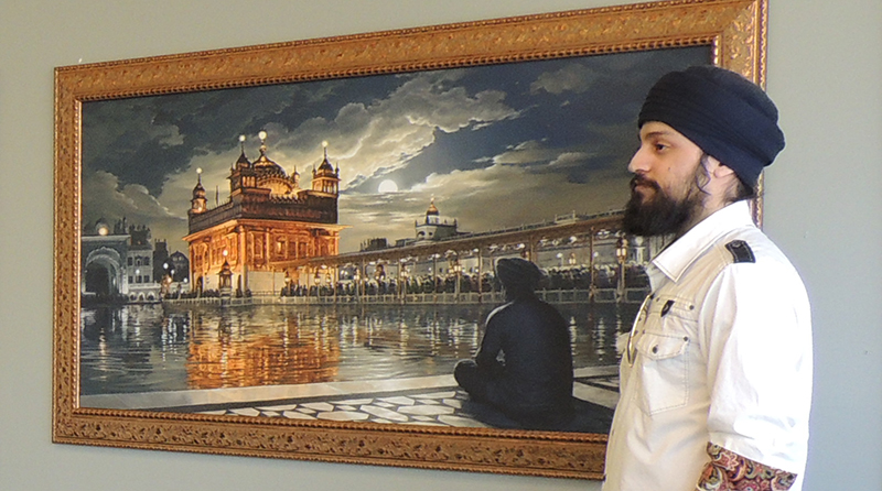 Bhagat Singh Artist, Exhibition, Sikhi Art, Harimandir Sahib, Harmandir Sahib, Golden Temple of Punjab, Pilgrimage to Amritsar, India, Sikh Painting