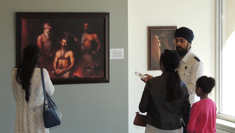 Guru Arjun Dev ji, Guru Ram Das ji,Sikhi Art, Exhibition, Bhagat Singh Bedi, Artist, Sikh Art, Sikh Painting, Punjab Art,