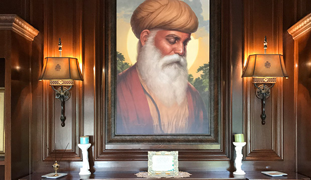 Adi Guru, Guru Nanak Dev ji, Portrait Painting, Meditation, Dhyan, Sikh Art Punjab Painting Bhagat Singh Bedi