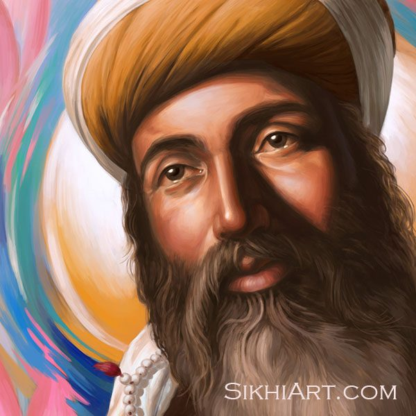 Guru Arjun Dev ji, Spiritual Blossoming, Guru Arjan Dev ji, Sikh Painting, Art and History of Punjab, Bhagat Singh, Sikhi Art, Peacock, Swan, Mute Swan, Lotus Petals, Roots, Garden, Beautiful Sikh Art