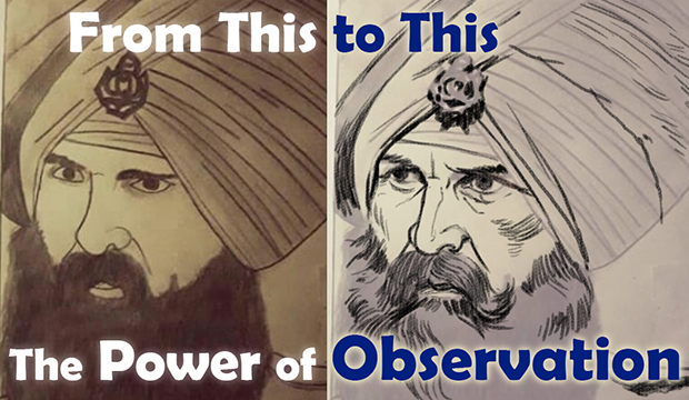 Sikh Soldier, Sikh Painting, Punjab Art, Tutorial, Bhagat Singh, Sikhi Art, Military, Turban, Emblem