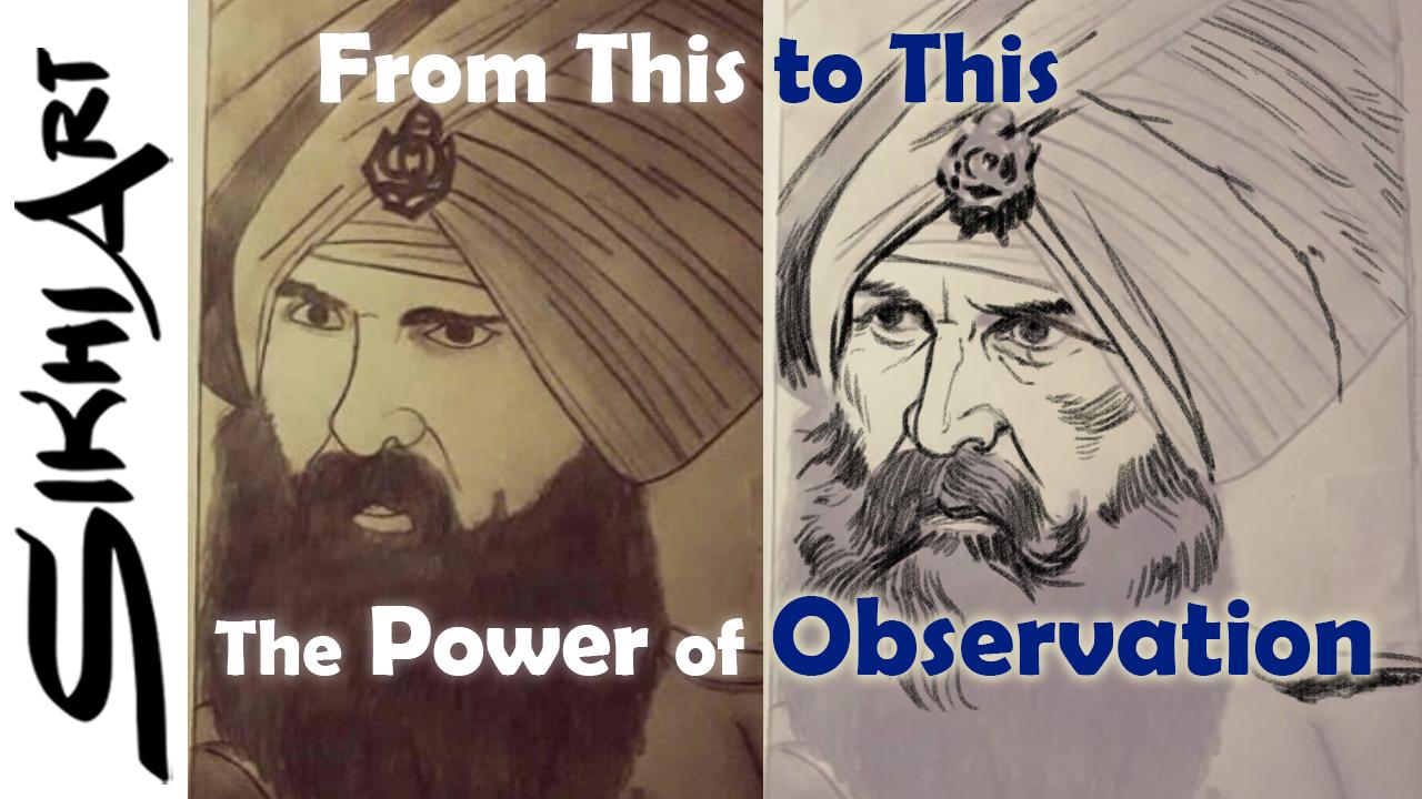 Sikh Soldier, Sikh Painting, Punjab Art, Tutorial, Bhagat Singh, Sikhi Art, Military, Turban, Emblem