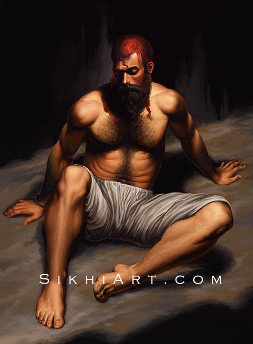 Bhai Taru Singh ji, Shaheed, Sikh Saints, Sikhi Art, Sikh Photo, Punjab Paintings, Bhagat Singh Bedi, Martyr, Warrior Saint, Sikh Wall Paintings, Sikh Pictures, Sikh Photos