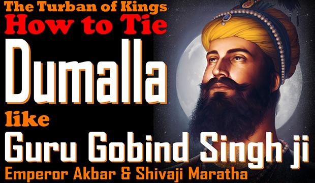 How to Tie Dumalla like Guru Gobind Singh ji, Sikh Turban, Gurus' Turban, Mughal Turban, Rajput Turban