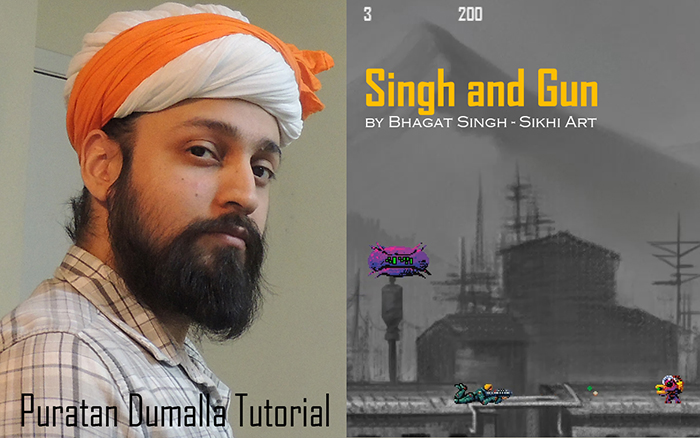 Bhagat Singh Artist, Puratan Dumalla, Gurus' Turban, Sikh Turban, Mughal Turban, Rajput Turban, Art of Sikhism, Sikh Empire, History of Punjab, Singh and Gun, Sikh Video-game