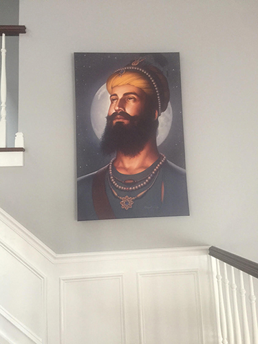 Dasam Pita Guru Gobind Singh ji, Khalsa, Sikh Guru Portrait by Bhagat Singh - Sikhi Art, Collection of Amit Pawa 2