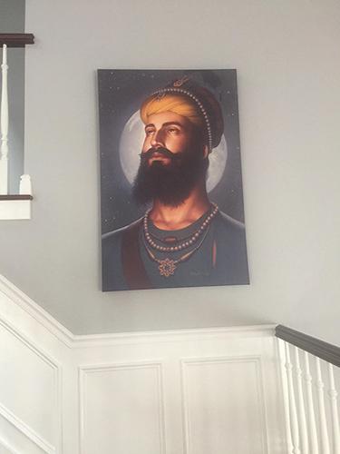 Dasam Pita Guru Gobind Singh ji, Khalsa, Sikh Guru Portrait by Bhagat Singh - Sikhi Art, Collection of Amit Pawa 2
