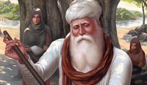 Guru Amardas ji, Langar, Seva, Simran, Mata Mansa Devi, Art of Sikhism by Bhagat Singh Bedi