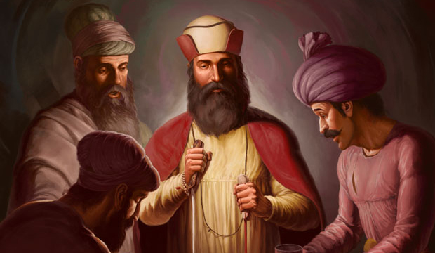 Featured Post Prints of Guru Nanak Dev ji, Bhai Lalo ji, Sikh Guru Canvas, Sikh Art Tradition of Punjab, Bhagat Singh Bedi