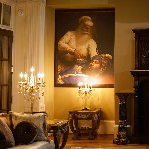 Bhai Kanhaiya ji - Sikh Canvas Fine Art Prints - Bhagat Singh Sikhi Art - Gurcharn Dang Collection