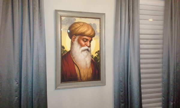 Guru Nanak Dev ji - First Guru of the Sikhs - Portrait by Bhagat Singh - Sikhi Art - Steve Nijjar Collection 2