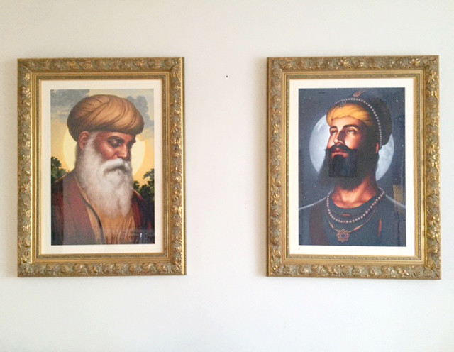 Guru Nanak Dev ji - Guru Gobind Singh - Bhagat Singh - Sikhi Art - Sikh Paintings of Gurus - Collection of Gopi C